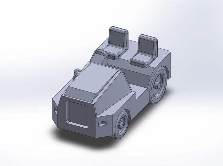TugM1A tractor 3d printed