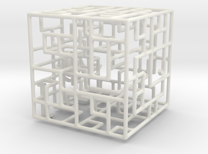 Floating Labyrinth 666 3d printed