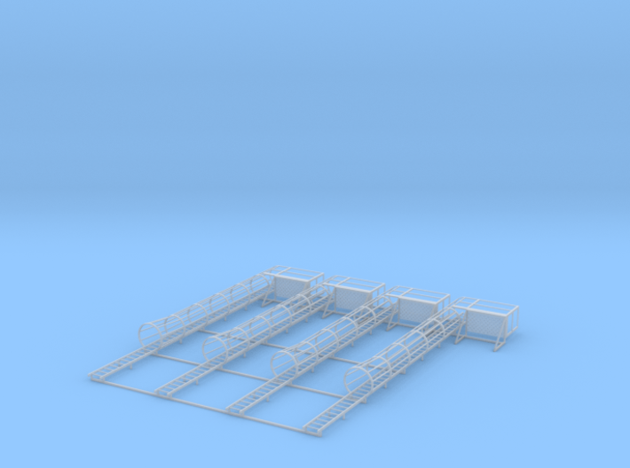 1/64 Ladder Cage Right Side Platform 4pc 3d printed