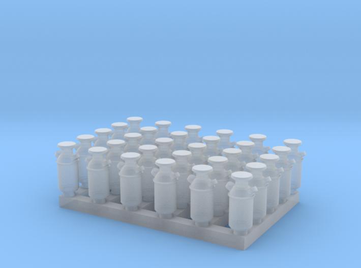 1:160 Milk Cans V2 - 30ea 3d printed