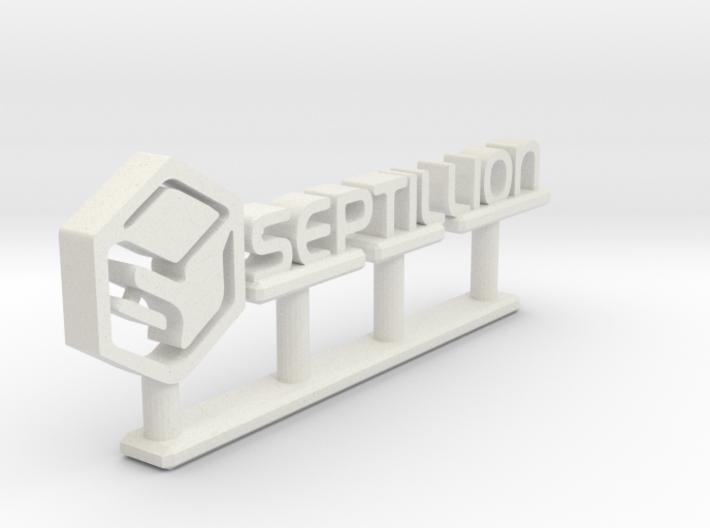 Septillion Logo 3d printed