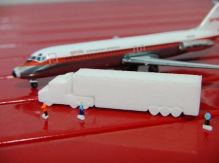 Airport GSE 1:400 Scania Truck Trailer Refrigerato 3d printed