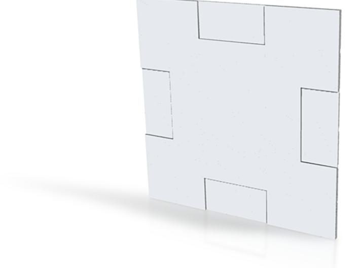 Starship Wall 002 3d printed