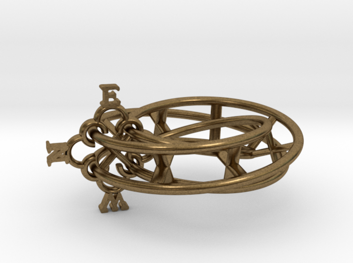 Mobius Compass 3d printed