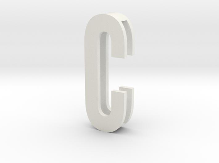 CHOKER SLIDE LETTER C 1⅛, 1¼, 1½, 1¾, 2 inch sizes 3d printed