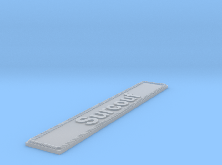 Nameplate Surcouf 3d printed