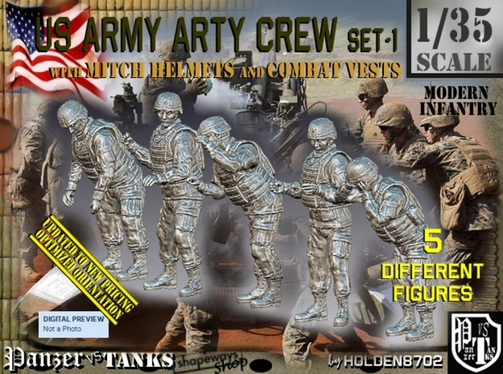 1/35 US Arty Crew Cold Weather Set1 3d printed