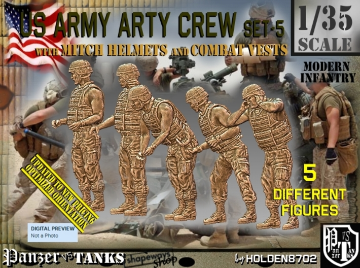 1/35 US Arty Crew Hot Weather Set5 3d printed