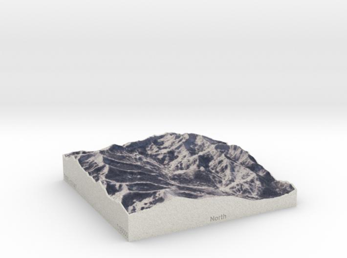 Brighton & Solitude, Utah, USA, 1:50000 3d printed