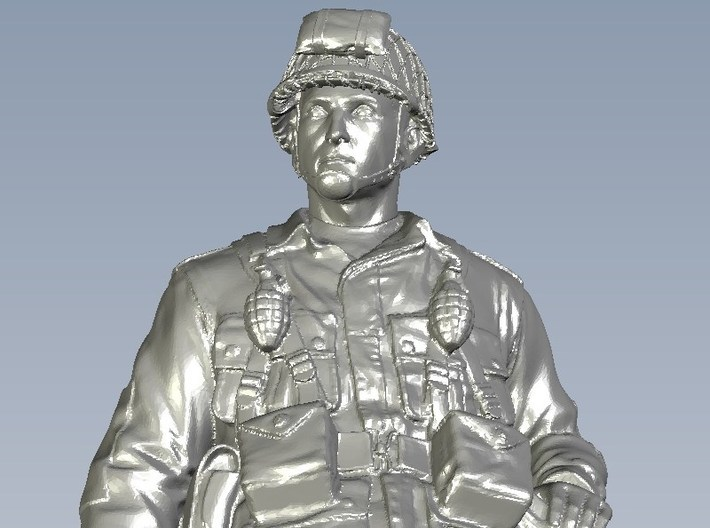 1/32 scale D-Day US Army 101 Airborne soldier 3d printed