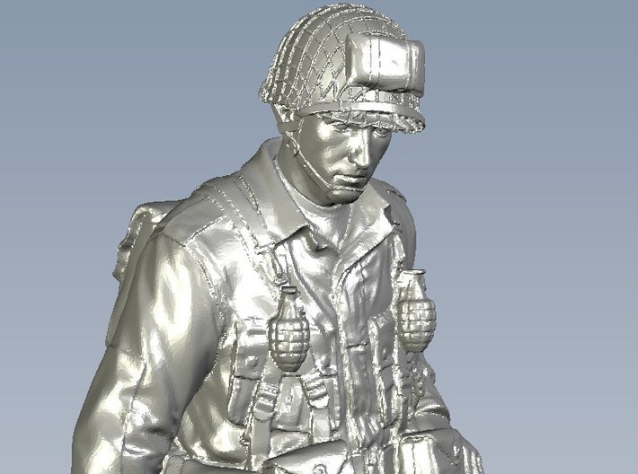 1/15 scale D-Day US Army 101 Airborne soldier 3d printed