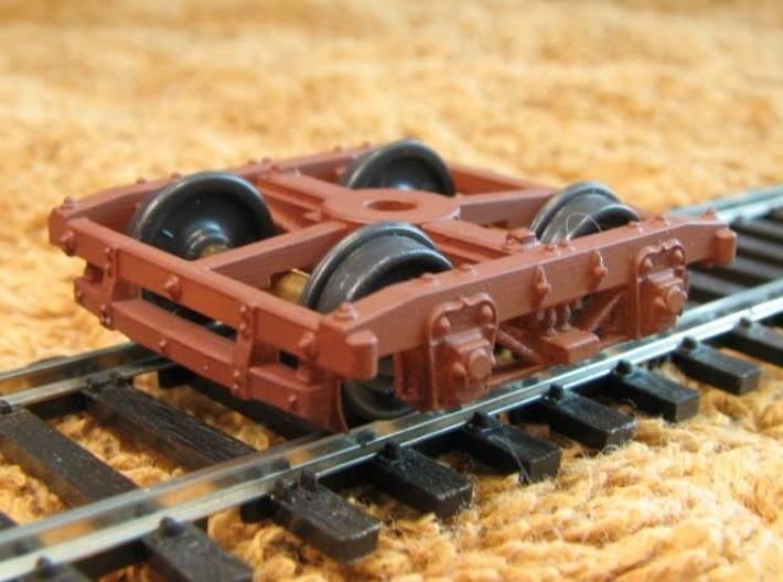HOT30s x4 USMRR Civil War wood beam truck 3d printed with MDC wheelsets