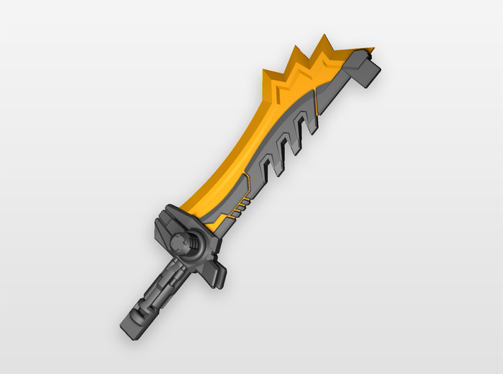 'Lightning Bolt Cutter' Sword for POTP Dinobots 3d printed