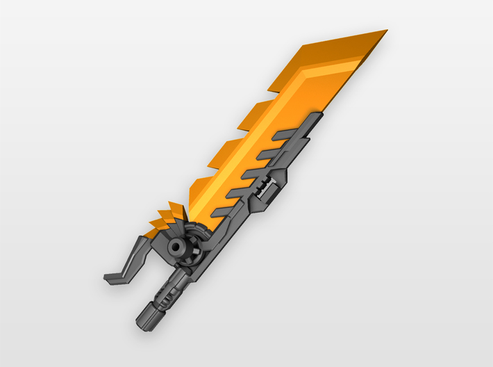 'Pyroclasma' Sword for POTP Dinobots 3d printed