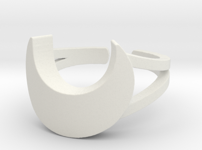 Crescent Moon Ring Size 10 3d printed