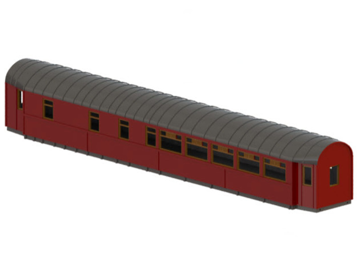 ABo3a - Swedish passenger wagon 3d printed CAD-model
