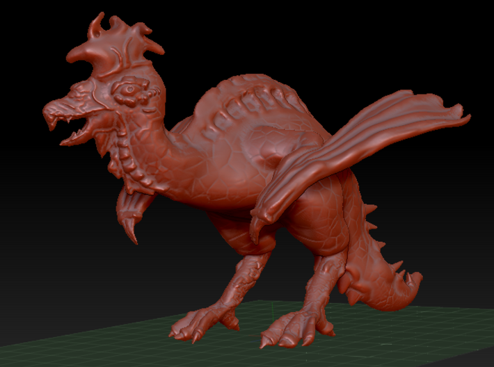 Cockatrice (Small Monstrosity) 3d printed