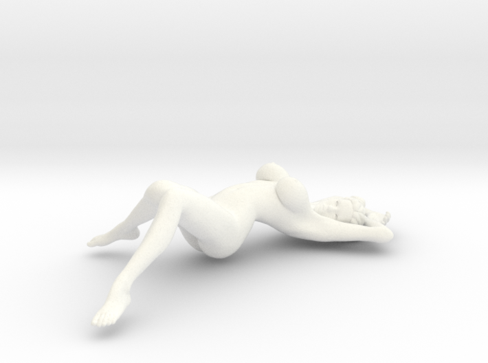 Sexy girl lying scale 1/20 Passed 3d printed