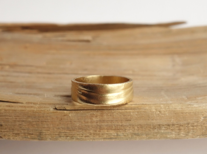 Ebb and Flow Ring No. 3 - Single Wave, Size 9 3d printed