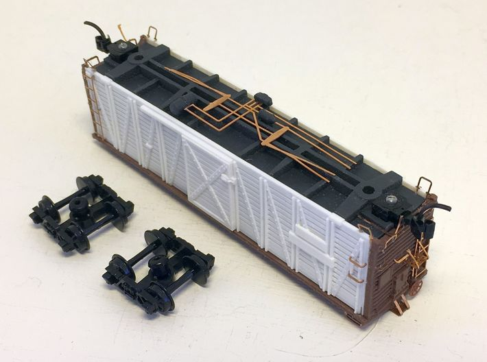 ATSF STOCKCAR Sk-2, 3 and 5, floor 3d printed stockcar underbody detail