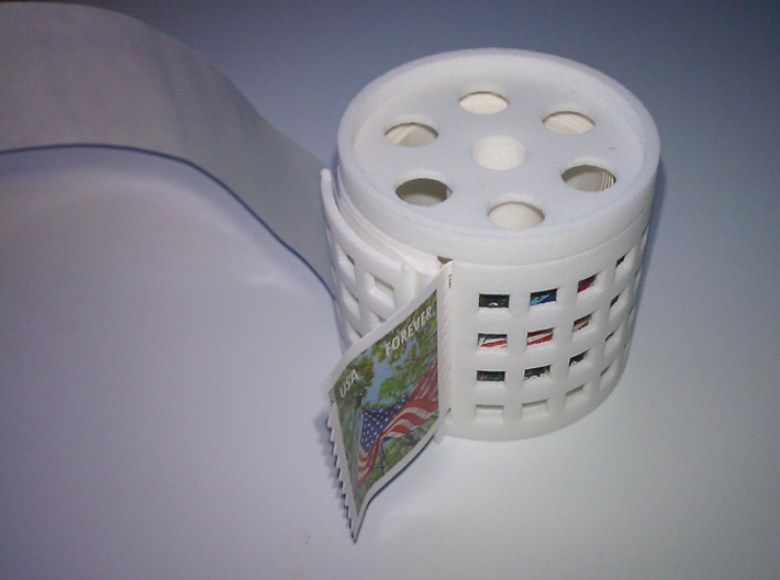 stamp roll dispenser The Postmaster 2 3d printed