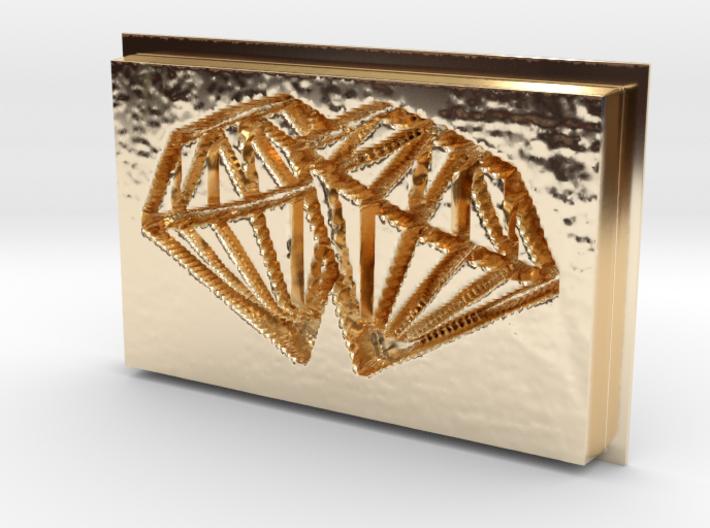 Double Diamonds Pendant 3d printed