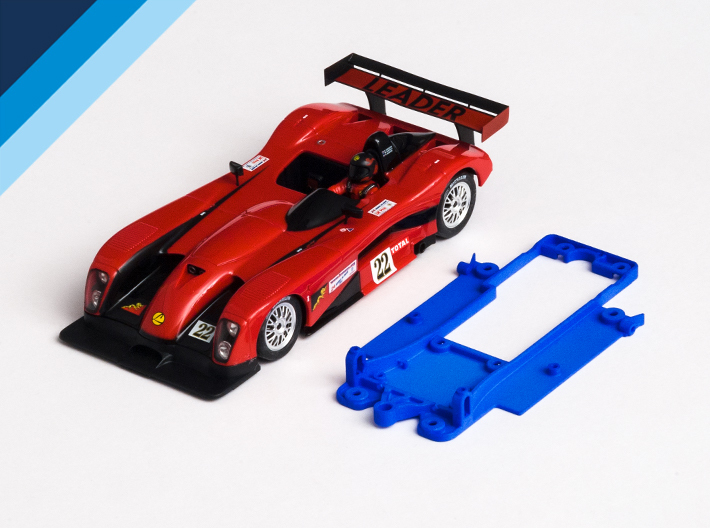 1/32 Fly Panoz LMP-1 Chassis for Slot.it pod 3d printed Chassis compatible with Fly Panoz LMP-1 Roadster S or Leader LMP-1 body (not included)