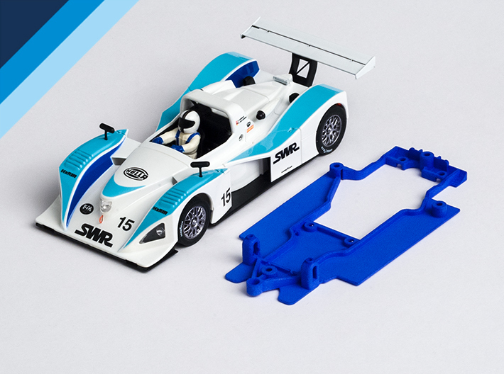 1/32 Spirit Lola B2K/10 Chassis for Slot.it pod 3d printed Chassis compatible with Spirit Lola B2K/10 body (not included)