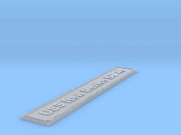 Nameplate USS New Mexico BB-40 3d printed