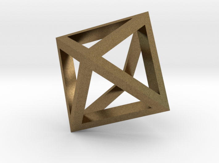 Octahedron mesh pendant 3d printed