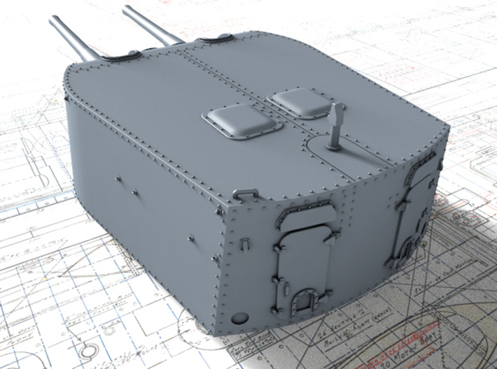 "1/700 Leander Class 6""/50 (15.2cm) BL Mark XXI Gun 3d printed 3d render showing product detail"
