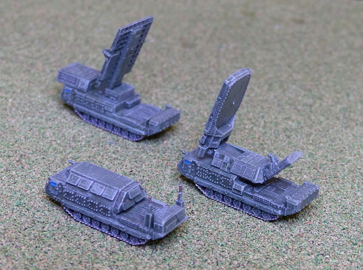 SA12 / SA23 SAM Battery Cmd. Section 1/144 3d printed 1/285 Models