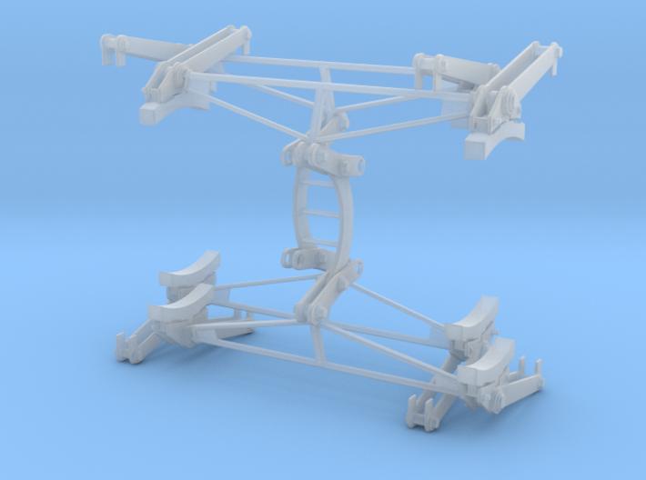 Brake Assy set (Qty 2) for German railway wagon 1/ 3d printed
