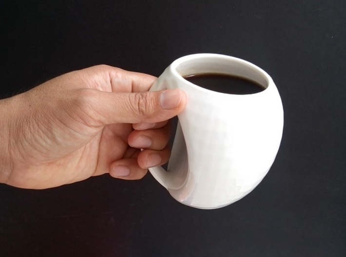 egg mug 3d printed the handle allows even a large hand perfectly fit