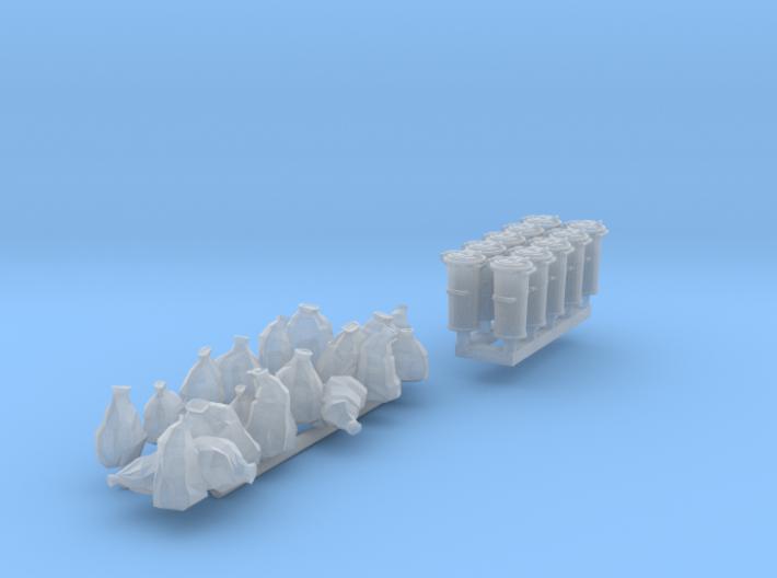 SET Mülltonnen und Müllsäcke (TT 1:120) 3d printed