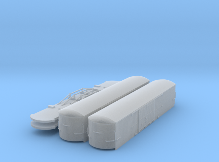 #160-1301x2 CERA Box cars round end (pack of 2) 3d printed