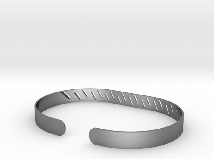 Angled Stripe Bracelet 3d printed