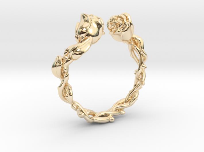 Roses Ring 3d printed
