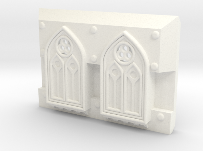 "Rhinoceros mk1 ""Gothic-pattern"" Frontal Plate 3d printed"
