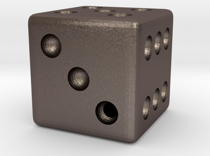 Weighted Dice (Favors a Roll of 3) 3d printed