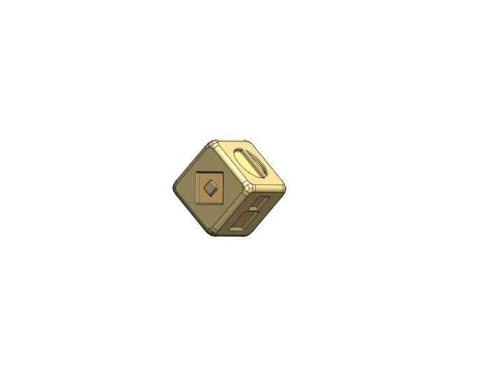 Han Solo's Sabacc Lucky Dice - Single 3d printed Render