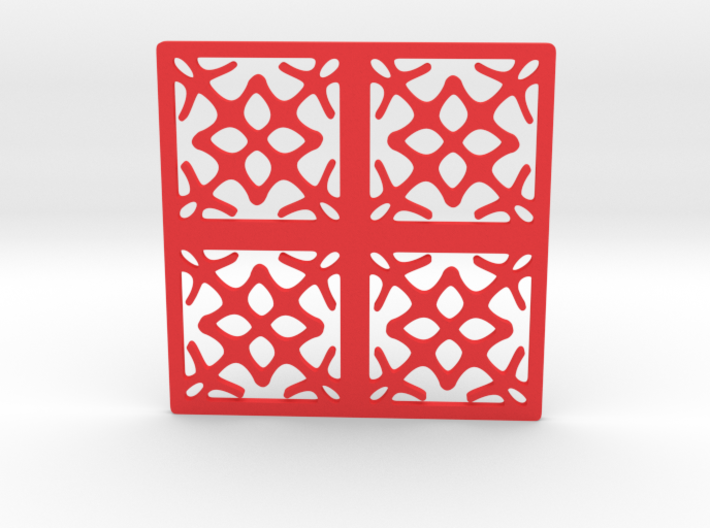 Cup coaster - pattern I 3d printed