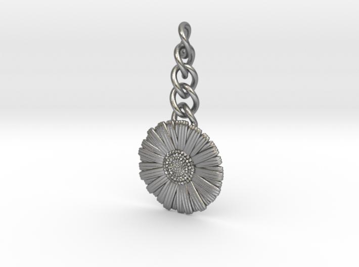 Daisy Keychain Charm 3d printed