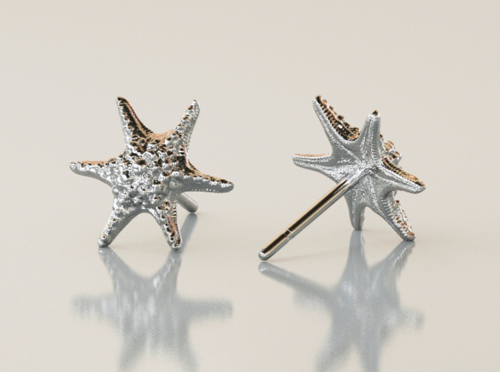 Sea Star Earrings 3d printed