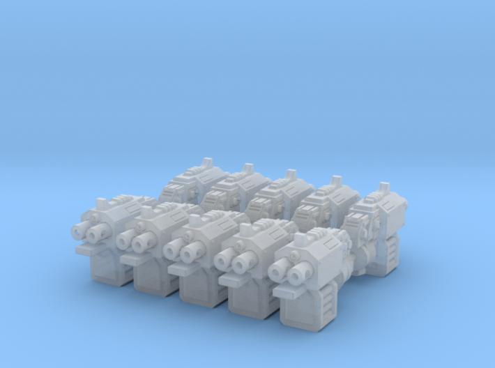 BlitzPistols (5 Left & 5 Right) 3d printed