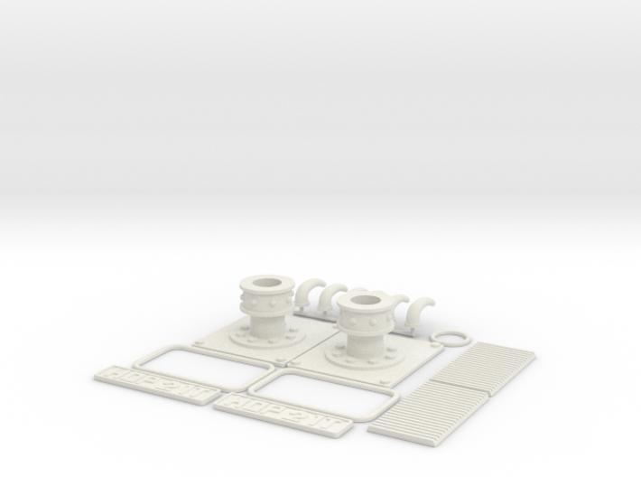 1:12 Airfix Austin A35 Upgrade Kit (Anti-Pesto) 3d printed