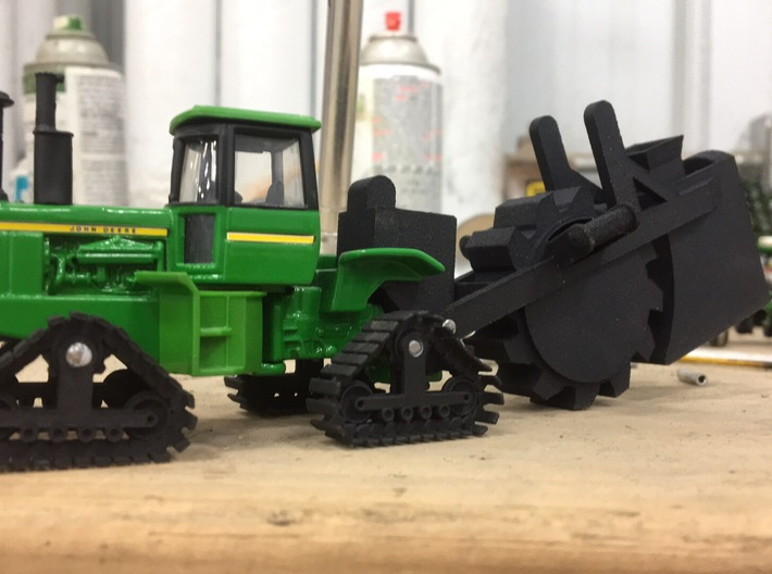 1/64 (S scale) Tractor Mounted Wheel Trencher  3d printed