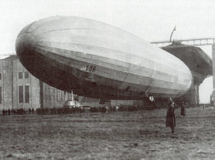 """Zeppelin L59 - the """"Africa"""" 'Ship 3d printed L59 at Staaken"""