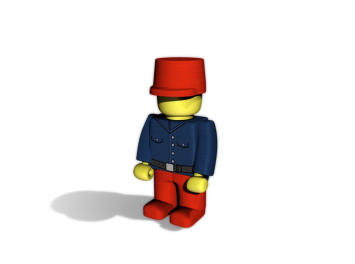 French General 3d printed Example figurine wearing the helmet in red pWSF