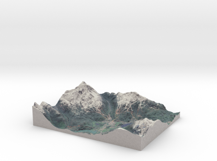 Whistler Blackcomb Ski Resort, British Columbia 3d printed